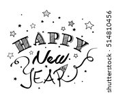 happy new year greeting card on ... | Shutterstock .eps vector #514810456