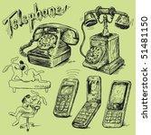 set of phone   Shutterstock .eps vector #51481150