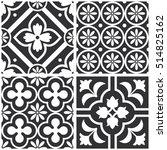 decorative monochrome tile... | Shutterstock .eps vector #514825162