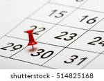 pin on the date number 30. the... | Shutterstock . vector #514825168