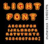 light font. retro alphabet with ... | Shutterstock .eps vector #514831996