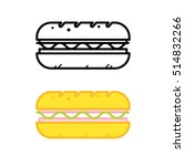 sandwich icons. vector.   Shutterstock .eps vector #514832266