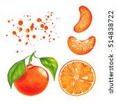 watercolor marker illustration... | Shutterstock . vector #514838722