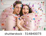 young couple in love embracing... | Shutterstock . vector #514840075
