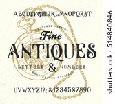 fine antiques. hand crafted... | Shutterstock .eps vector #514840846