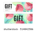 vector gift voucher template... | Shutterstock .eps vector #514842586