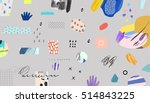 creative header with different... | Shutterstock .eps vector #514843225