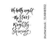 Oh Holly Night The Stars Are...