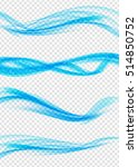 set of abstract blue wave set... | Shutterstock . vector #514850752