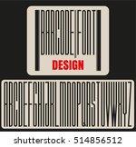 san serif font. concept font... | Shutterstock .eps vector #514856512