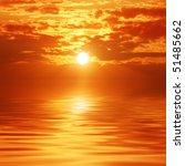 Sunset Sky Reflection Over A...