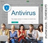 firewall antivirus alert... | Shutterstock . vector #514858195