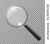 realistic magnifying glass... | Shutterstock . vector #514859158