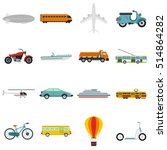 transport icons set. flat... | Shutterstock . vector #514864282