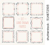 set hand drawn line border.... | Shutterstock .eps vector #514872505