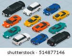 set of modern luxury cars icons.... | Shutterstock .eps vector #514877146