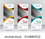 roll up banner stand template... | Shutterstock .eps vector #514880932