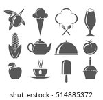food. icon set | Shutterstock .eps vector #514885372