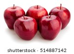 red delicious apples isolated | Shutterstock . vector #514887142