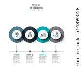 business data visualization.... | Shutterstock .eps vector #514890058