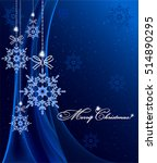 christmas background with... | Shutterstock .eps vector #514890295