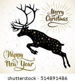 vector illustration of leaping... | Shutterstock .eps vector #514891486
