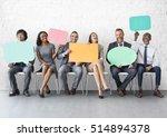 business team speech bubble... | Shutterstock . vector #514894378