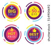 set of different promo sales... | Shutterstock .eps vector #514904692