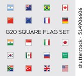 a set of vector flags for the... | Shutterstock .eps vector #514906606