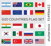 a set of flat vector flags for... | Shutterstock .eps vector #514906612