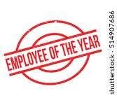 employee of the year rubber... | Shutterstock .eps vector #514907686