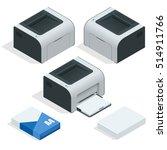 isometric set of laser printer...   Shutterstock .eps vector #514911766