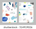 collection of trendy creative... | Shutterstock .eps vector #514919026