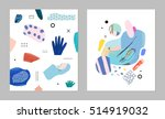 collection of trendy creative... | Shutterstock .eps vector #514919032
