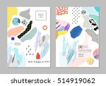collection of trendy creative... | Shutterstock .eps vector #514919062