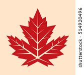 a vintage looking vector maple... | Shutterstock .eps vector #514920496