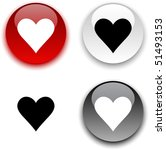 love glossy round vector... | Shutterstock .eps vector #51493153