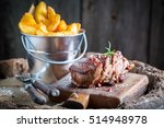 Delicious Steak And Chips With...