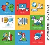 linear flat online university... | Shutterstock .eps vector #514954735