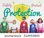 protection kids childhood... | Shutterstock . vector #514955845