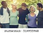 senior group friends exercise... | Shutterstock . vector #514955968