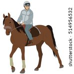 man riding a horse   vector... | Shutterstock .eps vector #514956532