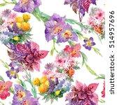 summertime garden flowers...   Shutterstock . vector #514957696