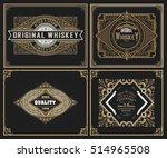 set whiskey labels. vector | Shutterstock .eps vector #514965508