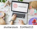 e commerce shop online homepage ... | Shutterstock . vector #514966315