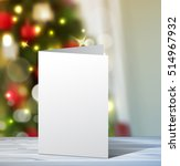 Christmas Greeting Card Mock Up