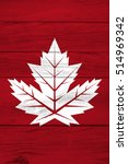 a red maple leaf is painted on... | Shutterstock . vector #514969342