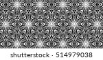 ornament with elements of black ...   Shutterstock . vector #514979038