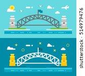 flat design sydney harbour... | Shutterstock .eps vector #514979476