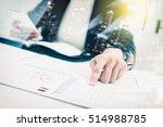 double exposure of recheck...   Shutterstock . vector #514988785